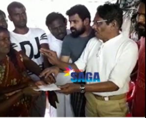 Ameer Bharathiraja and Vetrimaaran Visit People who Affected by Gaja Cyclone