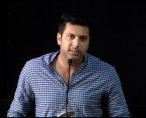 Jayam Ravi Speaks @ Vanamagan Press Meet