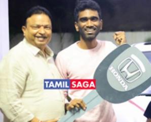 Ishari K Ganesh gifted a car to comali director